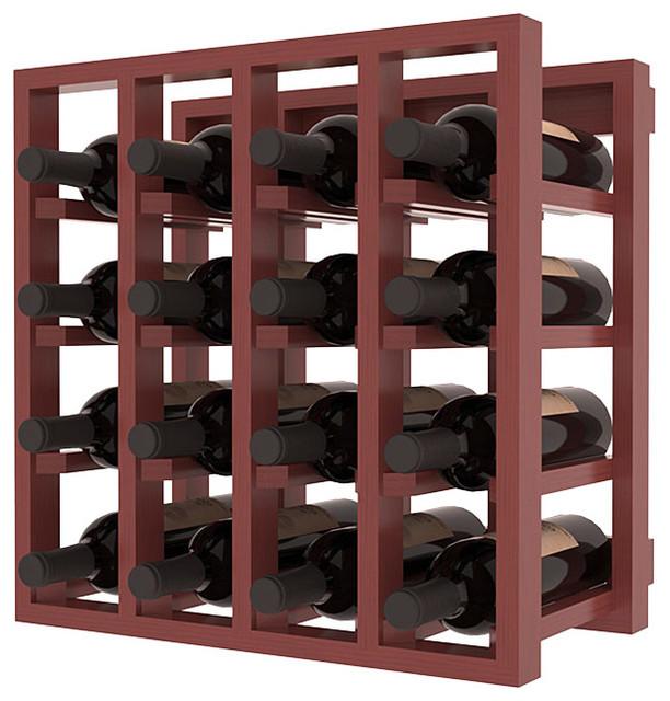 Lattice Stacking Wine Cubicle in Ponderosa Pine, Cherry + Satin Finish contemporary-wine-racks