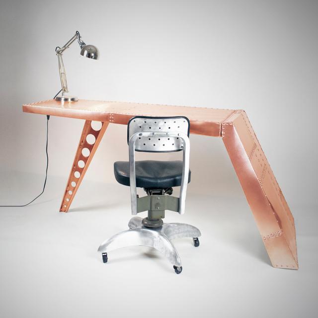 Aviator Airfoil Desk - Copper eclectic-desks