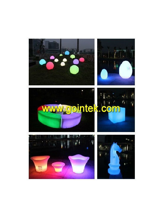 glowing led bench for bar seating -