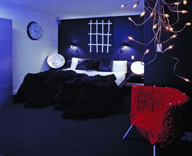 Modern Man's bedroom contemporary-bedroom