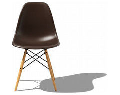 Eames Molded Plastic Dowel Leg Side Chair midcentury-dining-chairs