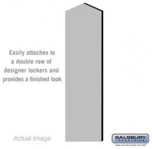 Double End Side Panel - for 18 Inch Deep Designer Wood Locker - Gray modern-storage-cabinets
