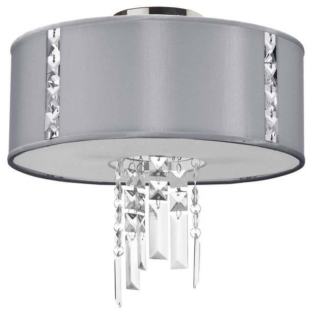 2 Light Semi Flush Fixture, Steel modern-bathroom-lighting-and-vanity-lighting