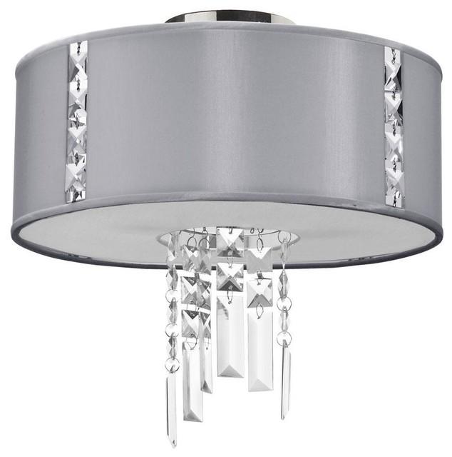 2 Light Semi Flush Fixture, Steel modern-bathroom-vanity-lighting