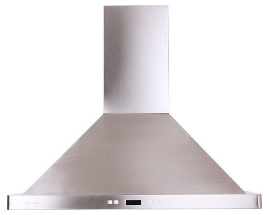 Cavaliere - Cavaliere-Euro SV218B2-30 Stainless Steel Wall Mount Range Hood - Cavaliere Stainless Steel 218W Wall Mounted Range Hood with 6 Speeds, Timer Function, LCD Keypad, Aluminum Grease Filters, and Halogen Lights