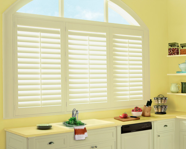 Kitchen Sink Window Shutters Traditional Kitchen St Louis By Two Blind Guys