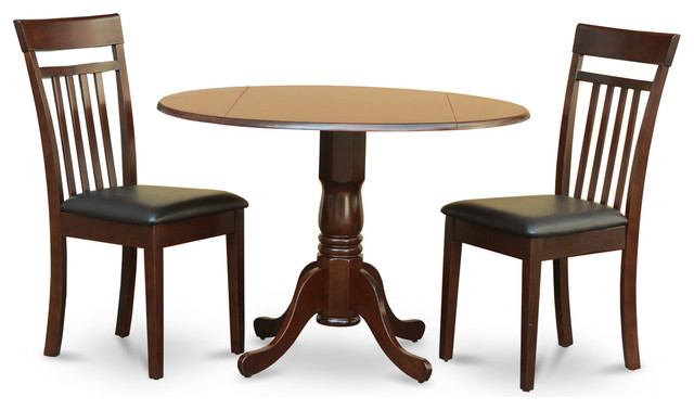 3 Pc Kitchen Nook Dining Set Drop Leaf Table And 2 Dining