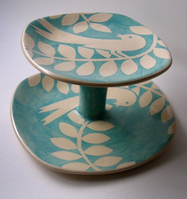 Ken Eardley Bird Cake Stand - Contemporary - Dessert And ...