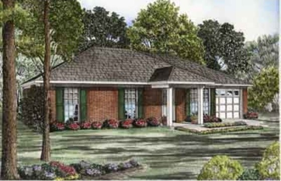 House Plan 17-2082 traditional-exterior-elevation
