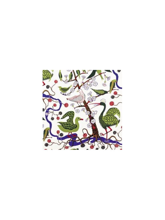 Green Birds Fabric by Josef Frank -