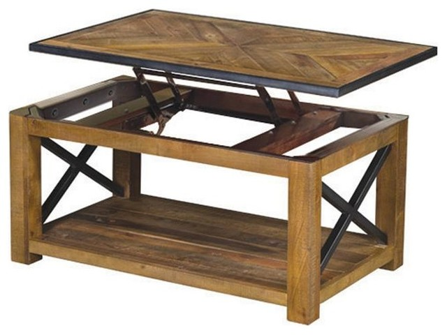 Magnussen Penderton Rectangular Lift Top Cocktail Table Rustic Coffee Tables By Furniture