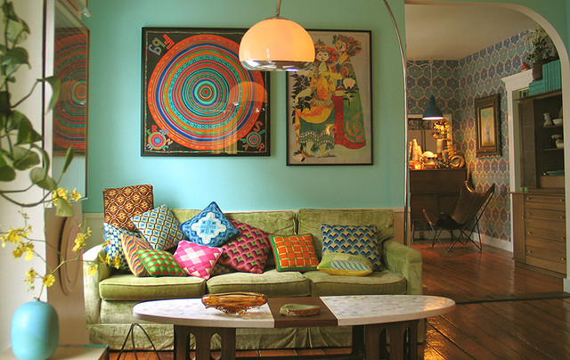 living room - portland, maine - wary meyers decorative arts eclectic