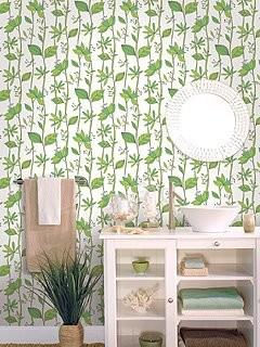 Wallcoverings bathroom farmhouse wallpaper miami for Bathroom wallpaper wall coverings