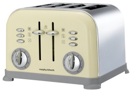 Morphy Richards Accents 44038 4 Slice Toaster, Cream traditional-toasters