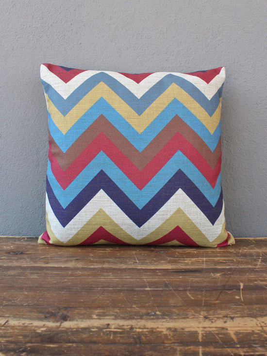 ziggedy zag pillow - view this item on our website for more information + purchasing availability: http://redinfred.com/shop/category/detail/throw-pillows/ziggedy-zag-pillow/
