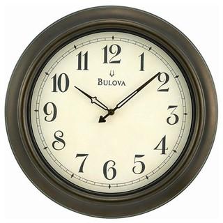 Bulova Quincy 18-Inch Bronze Indoor / Outdoor Wall Clock ...