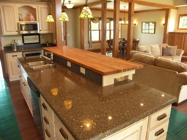 American cherry butcher block traditional kitchen for Countertop liquidators