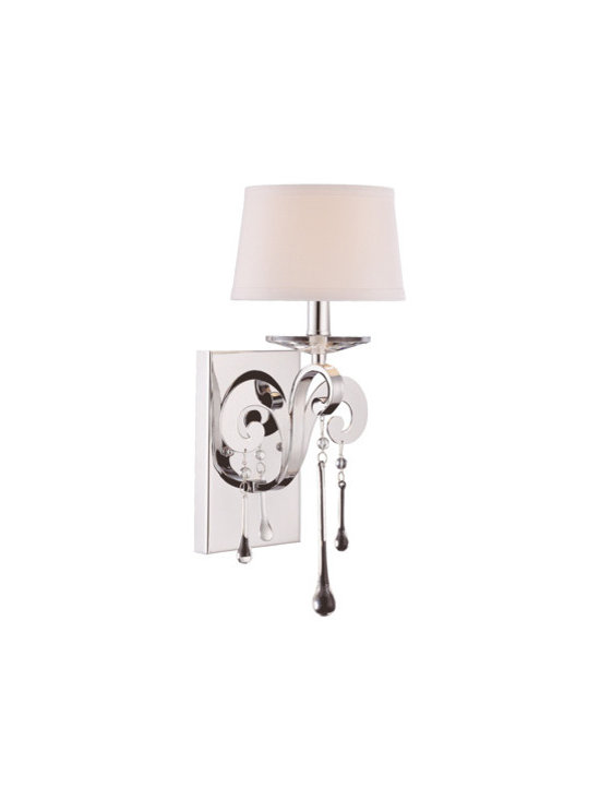 Savoy House - Niva 1-Light Sconce - Who ever said earrings should only dangle from ears? This glamorous sconce proves that jewelry can also drip from your wall.