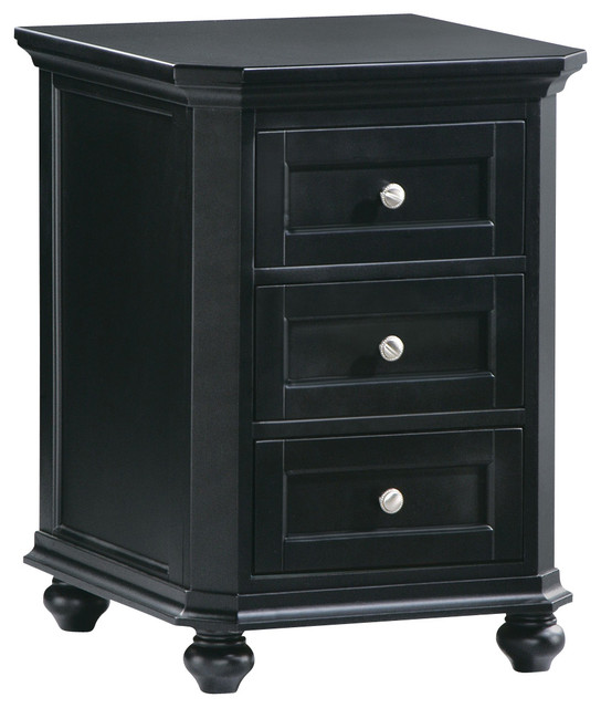 Homelegance Hanna CPU 3-Drawer Cabinet in Black ...