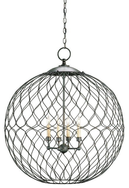 Currey and pany Simpatico Orb Chandelier 4L
