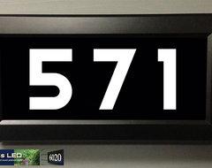 Address LED  - illuminated house numbers house-numbers