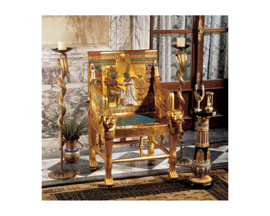 furniture - King Tutankhamen's Egyptian Throne Chair