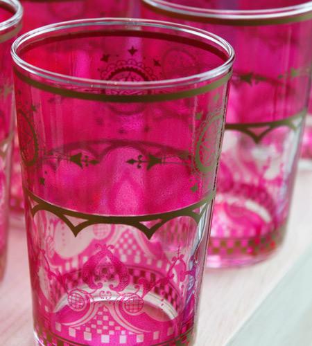 Colorful Moroccan Tea Glasses mediterranean-everyday-glassware