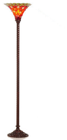 Tiffany-style Vintage Star Torchiere Lamp traditional-floor-lamps