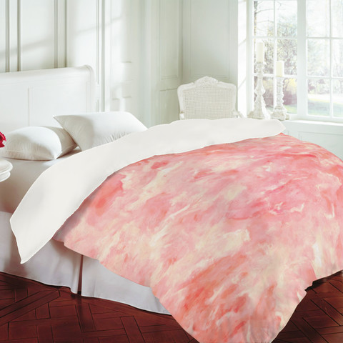 Rosie Brown Art Deco Pink Duvet Cover Contemporary