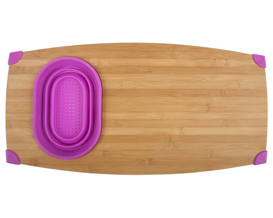 Over The Sink Bamboo Cutting Board -