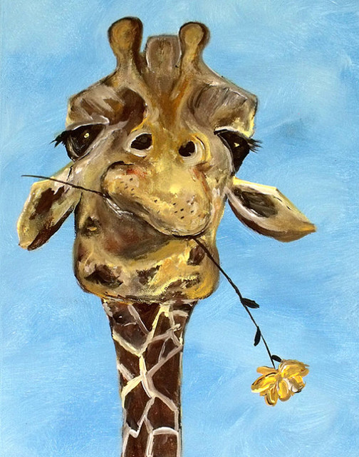 Contemporary Giraffe Art Print By ContemporaryEarthArt contemporary-nursery-decor