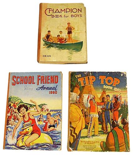 Vintage English 1950s 1960s Set 3 School Friend Childrens