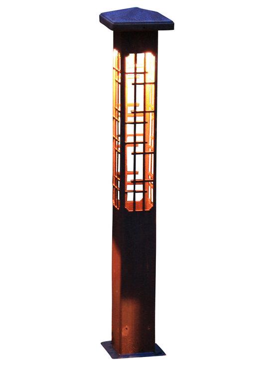 "Attraction lights - Path Light-Decorative Steel-Lantern Design - -Solid, 1/8"" high grade steel construction"