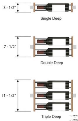 Depth Of The Millesime Wine Racks Contemporary Wine