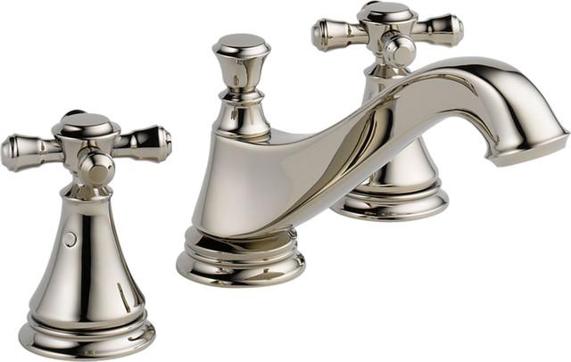 Delta 3595LF-PNMPU-LHP Cassidy Series 2-Handle Widespread Lavatory Faucet modern-bathroom-faucets