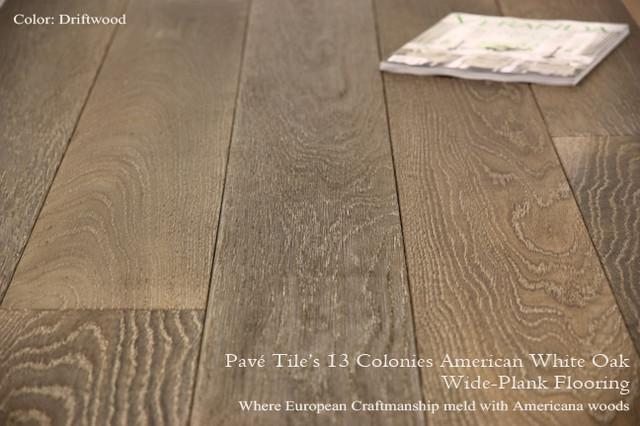 13 Colonies Wide Plank American White Oak Flooring traditional-hardwood-flooring