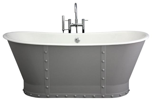 "'The Abingdon' 68"" Long Cast Iron Bathtub Package from Penhaglion modern-bathtubs"