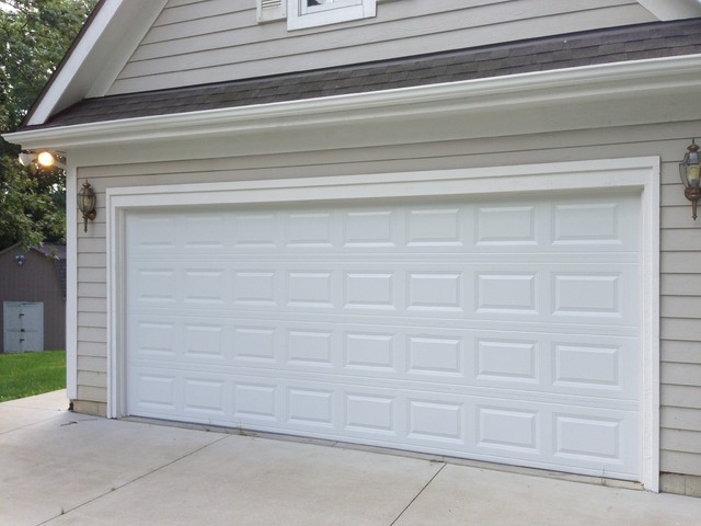 Traditional Raised Panel Garage Doors - Traditional - Garage And Shed - detroit - by Premier ...