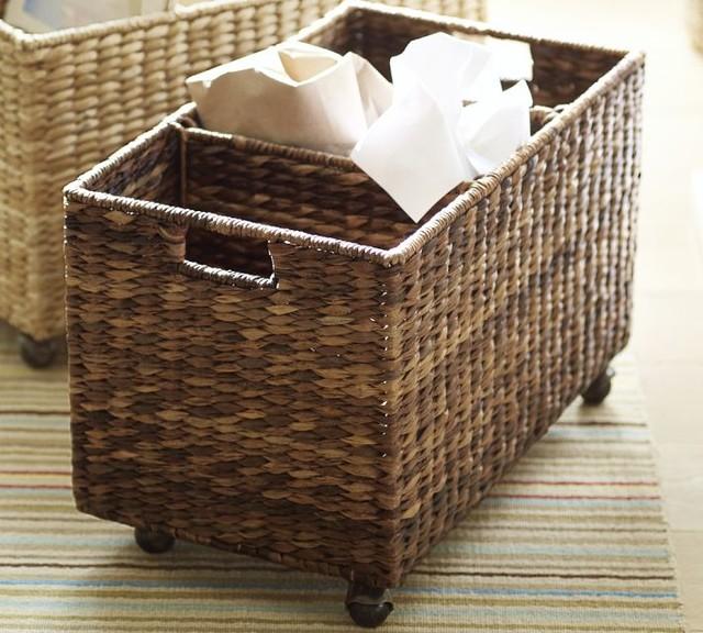 Havana Recycle Bin Basket Contemporary Recycling Bins