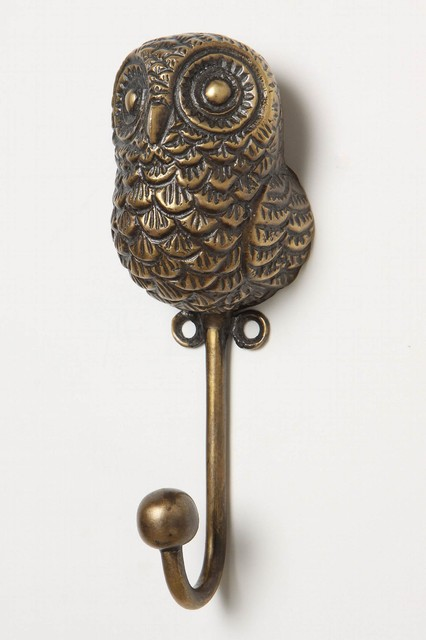 Creature Kingdom Owl Hook eclectic towel bars and hooks