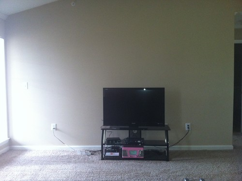 Decor On Wall Behind Tv : Need suggestions for decorating this wall and around tv stand