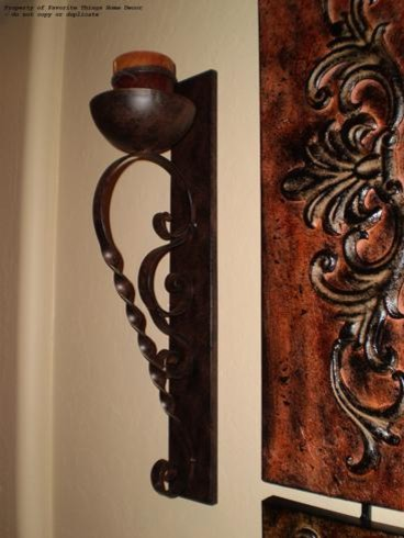 FAVORITE SCROLLED IRON CANDLE SCONCES TO ACCENT YOUR WALL DECOR candles-and-candleholders