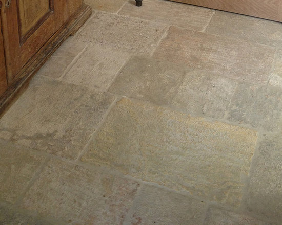 Stone Floors Antique 'Kronos Limestone' Reclaimed Tiles & Pavers - Image by 'Ancient Surfaces' Product name: Antique Kronos Stone Flooring Contacts:(212) 461-0245 Email: Sales@ancientsurfaces.com Website: www.AncientSurfaces.com .
