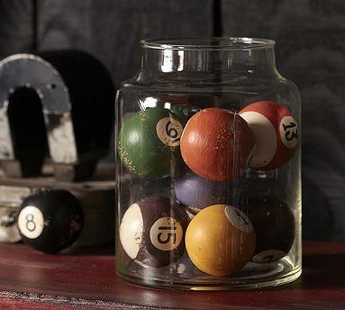 Vintage Pool Balls Vase Filler, Set of 10 - Traditional - Vases - by ...