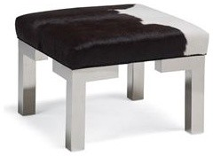 Winston Leather Cube Ottoman contemporary-footstools-and-ottomans