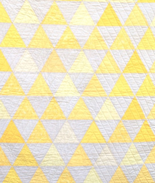 Equilateral Triangles Crib Quilt by Carson Converse Studio modern-baby-bedding