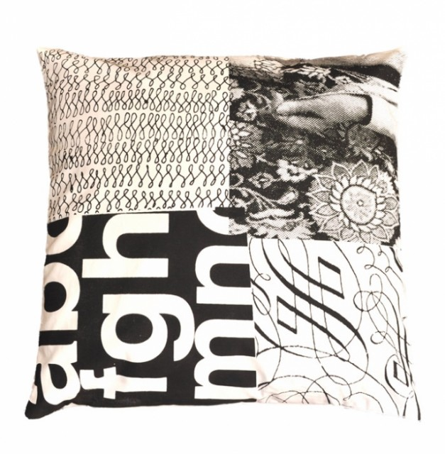 Patch Print Cushion contemporary pillows
