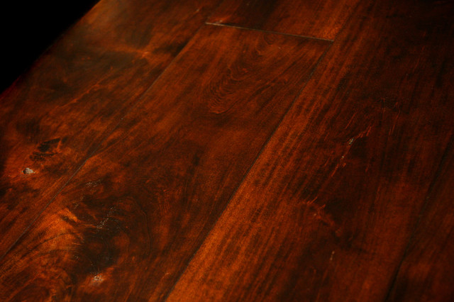 French Country Cherry, Footworn Texture, Antique Cherry Finish
