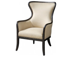 www.essentialsinside.com: zander tan wingback armchair contemporary armchairs