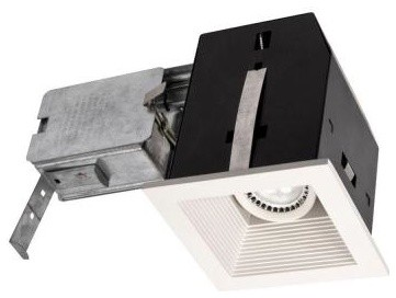 BAZZ Cube Series 4 in. Recessed Matte White LED Complete Fixture Kit CUBL5W contemporary-ceiling-fans